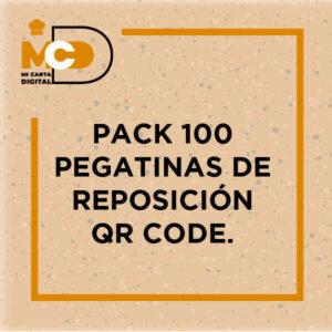 Pack 100 pegatinas de reposición Qr code
