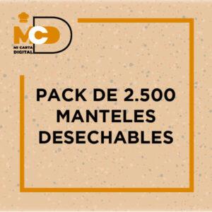 Pack de 2.500 manteles desechables